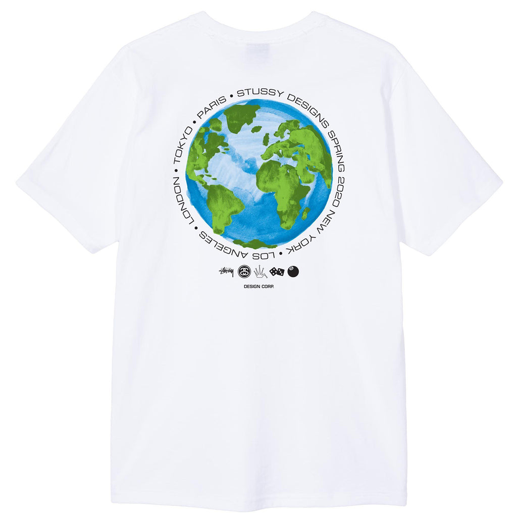 Stussy Global Design Corp T Shirt in White