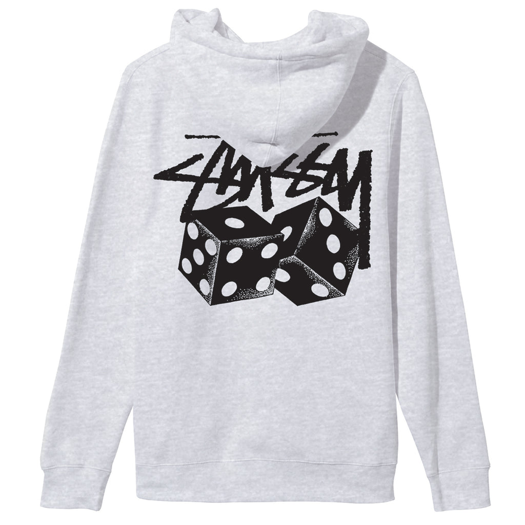 Stussy Pair of Dice Hoodie in Ash Grey