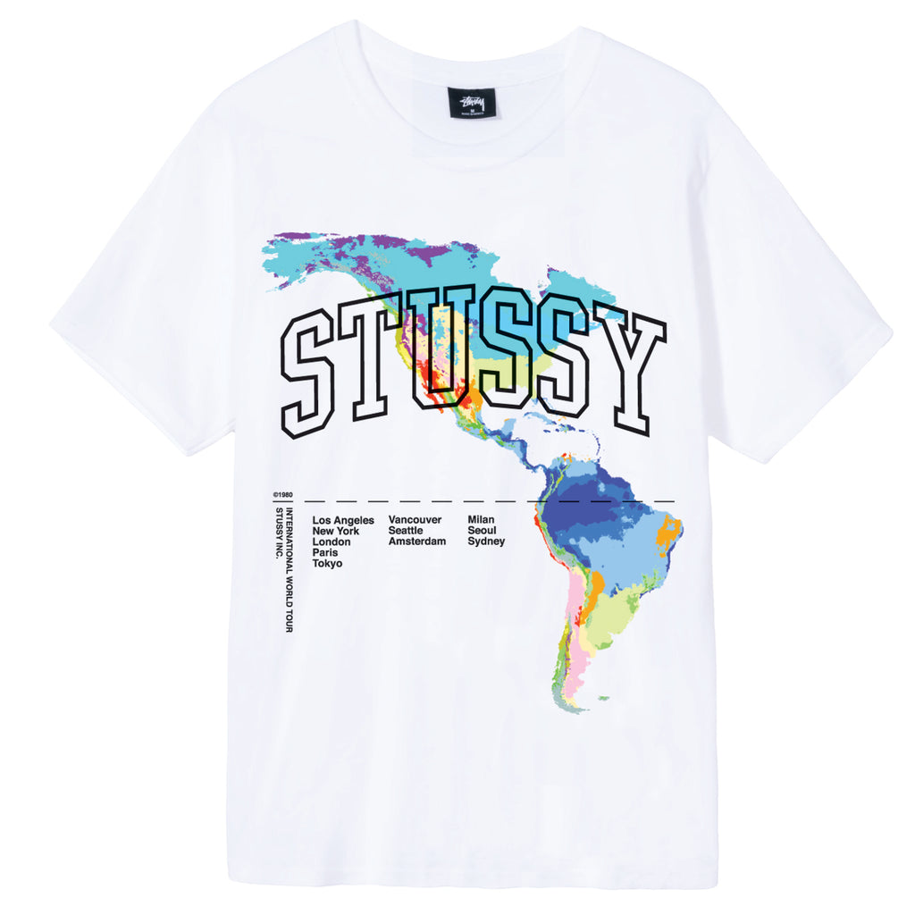 Stussy Thermal T Shirt in White