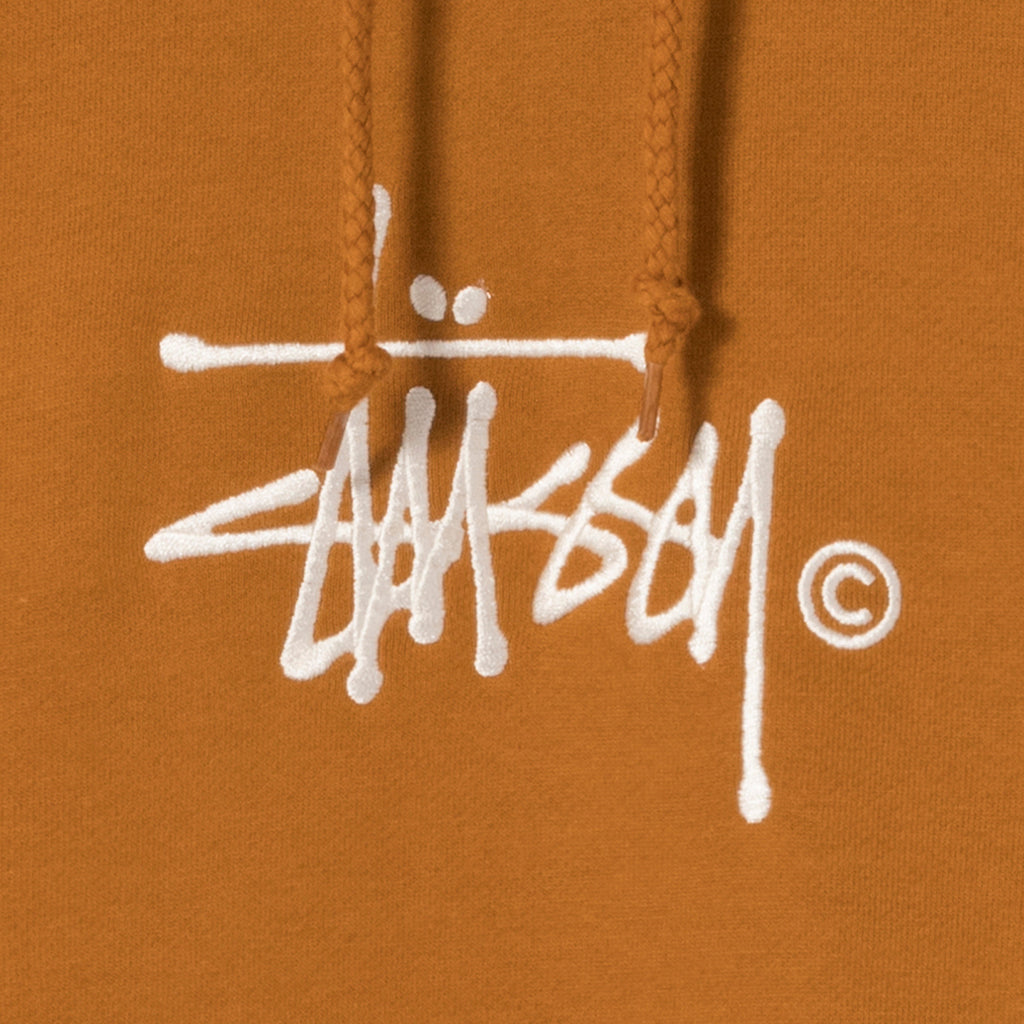 Stussy Copyright Stock App Hoodie in Caramel - Embroidery