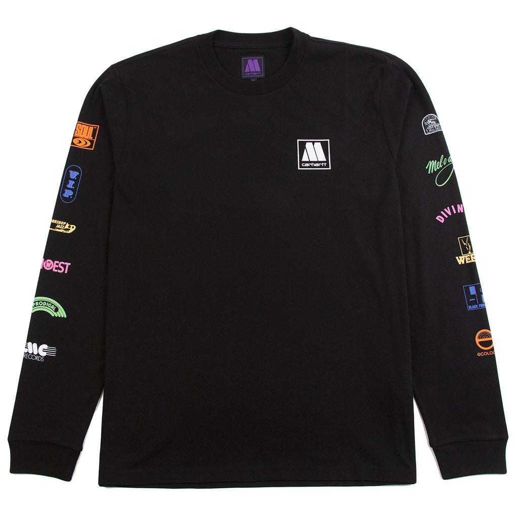 Carhartt WIP x Motown L/S Sublabels T Shirt in Black