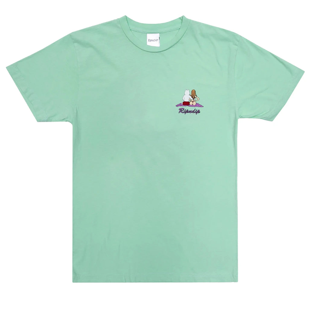 RIPNDIP Suns Out Buns Out T Shirt in Mint - Front