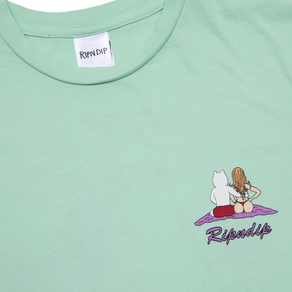 RIPNDIP Suns Out Buns Out T Shirt in Mint - Print