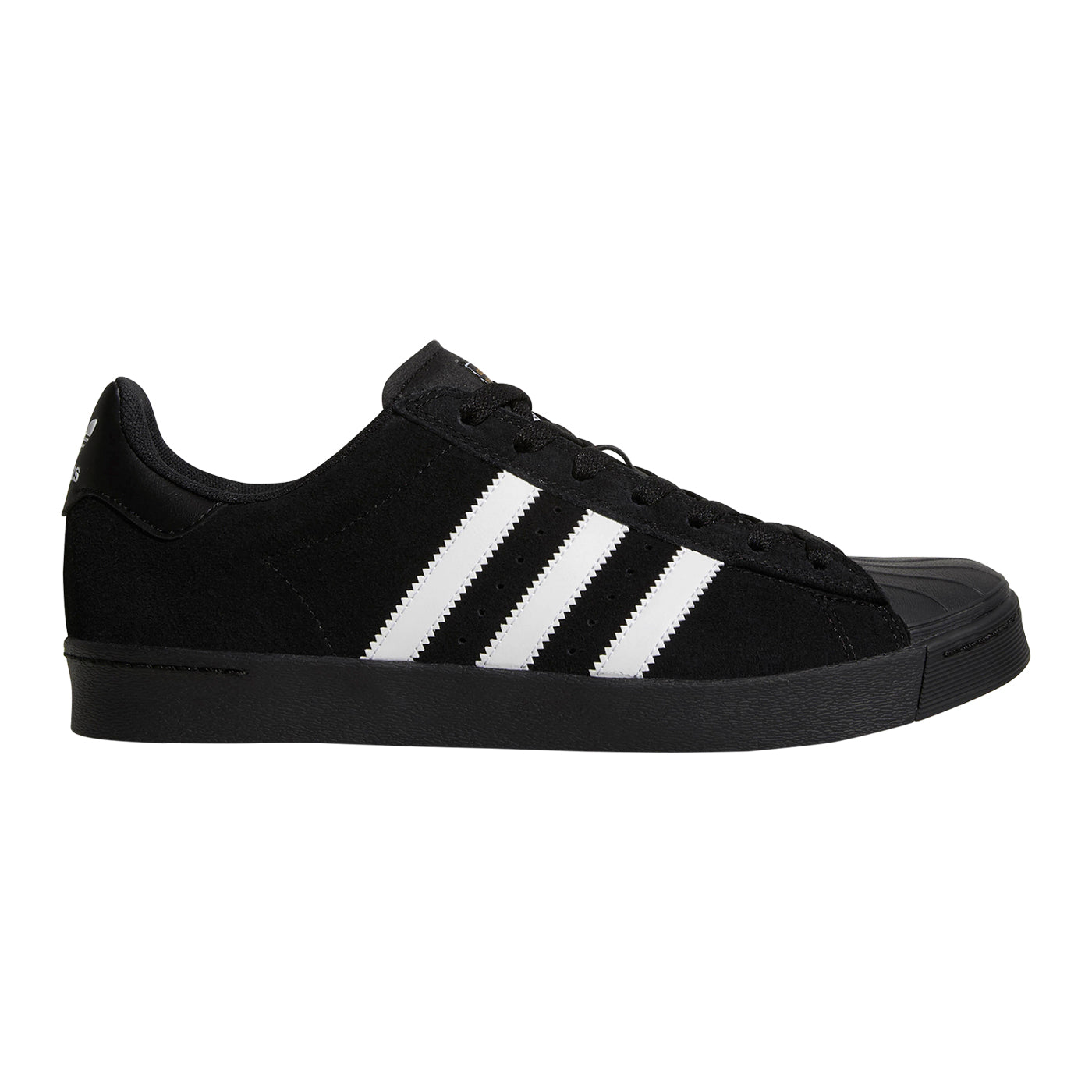 Adidas Skateboarding Superstar Vulc ADV Shoes - Core Black   Footwear White    Core Black 618f7b9b4