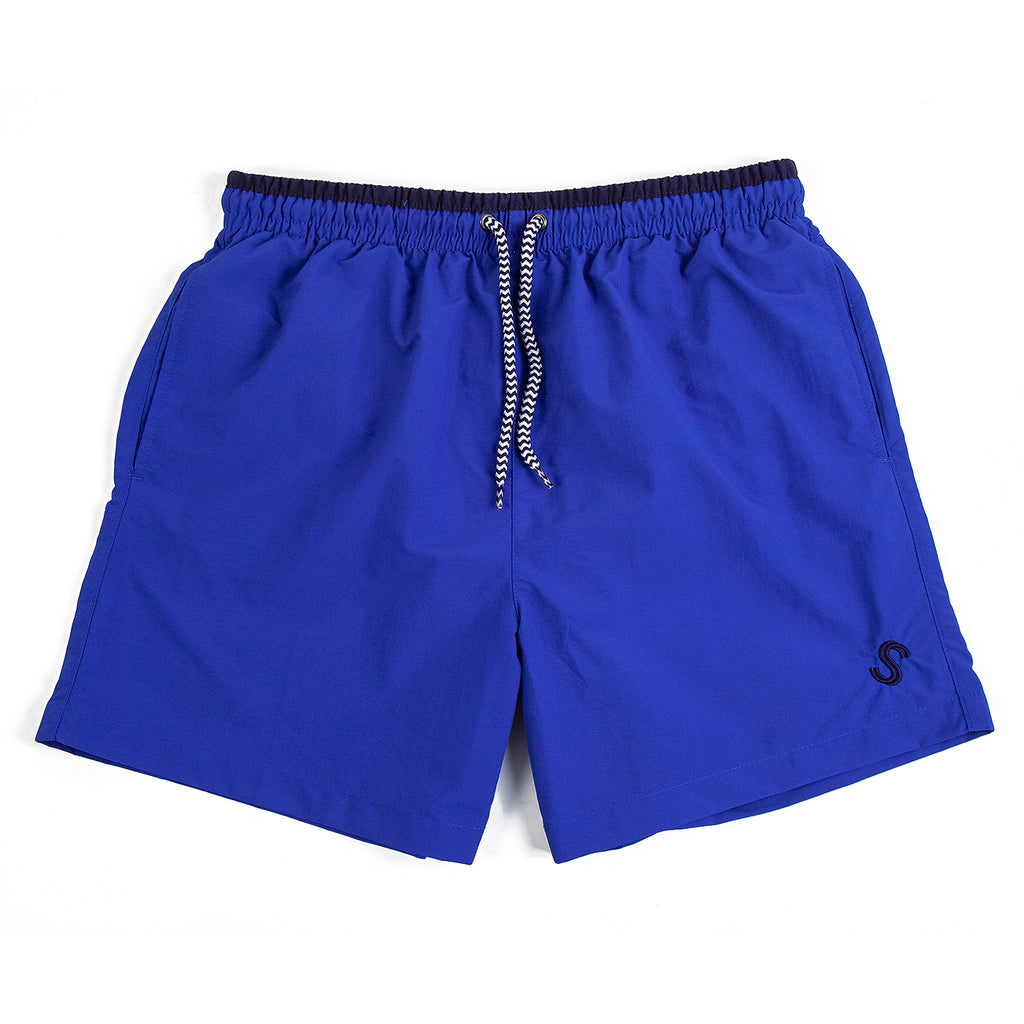 Signature Clothing S Logo Swim Shorts in Blue / Navy