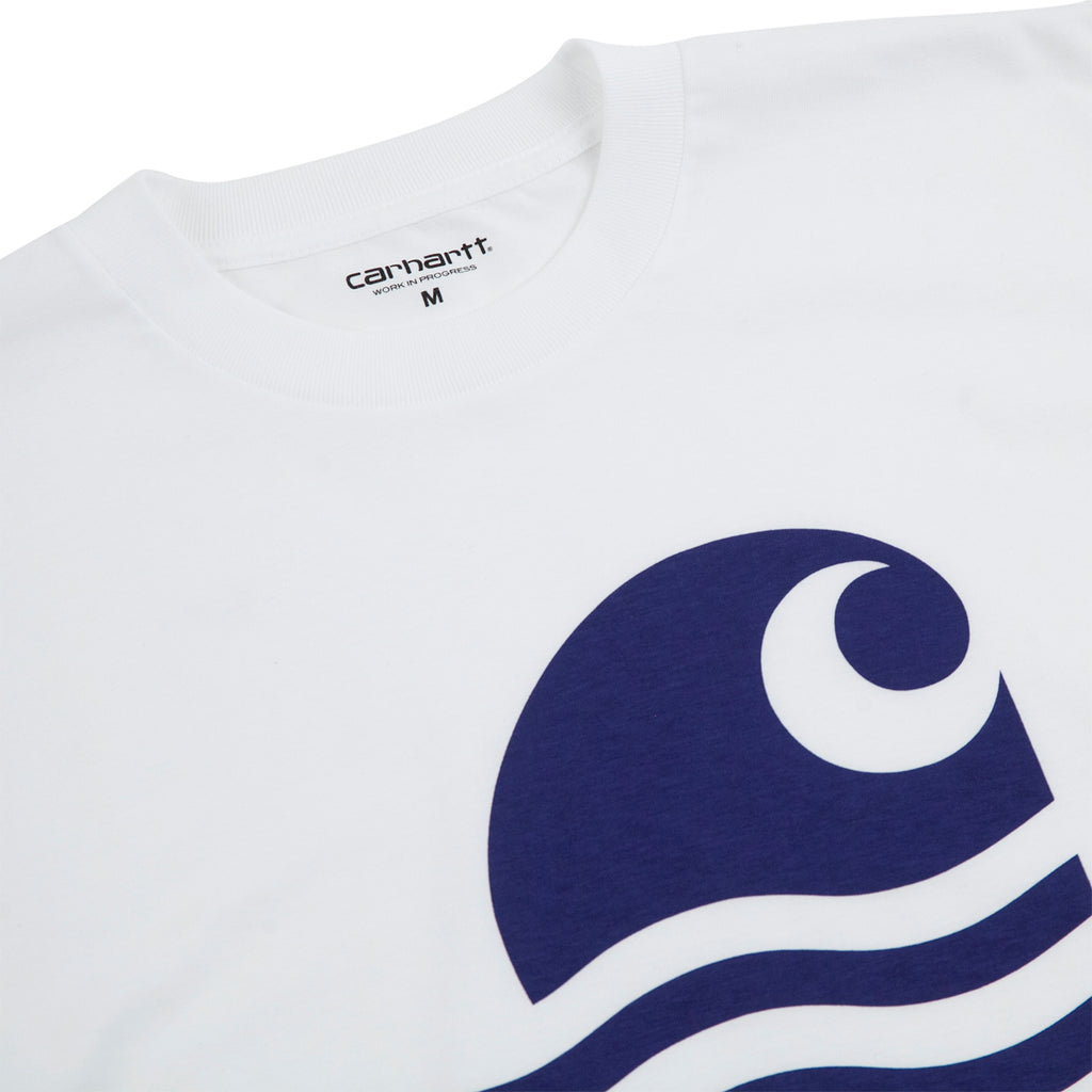 Carhartt WIP Swim T Shirt in White / Submarine - Detail
