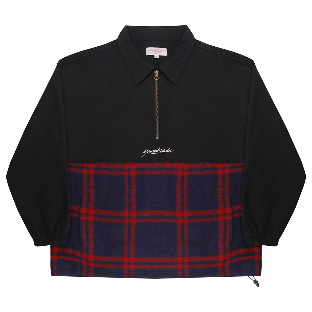 Yardsale Tartan Split Fleece Black - Front