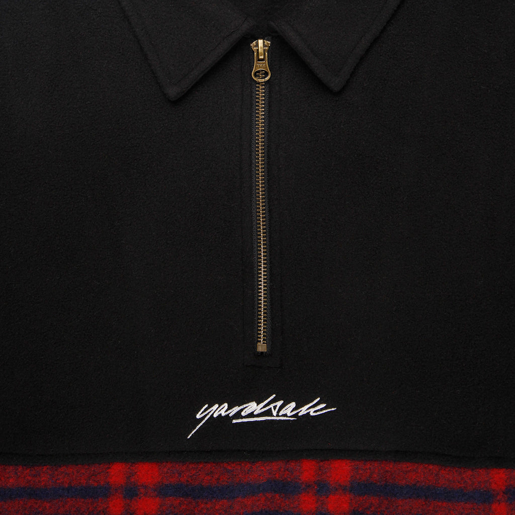 Yardsale Tartan Split Fleece Black - Zipper