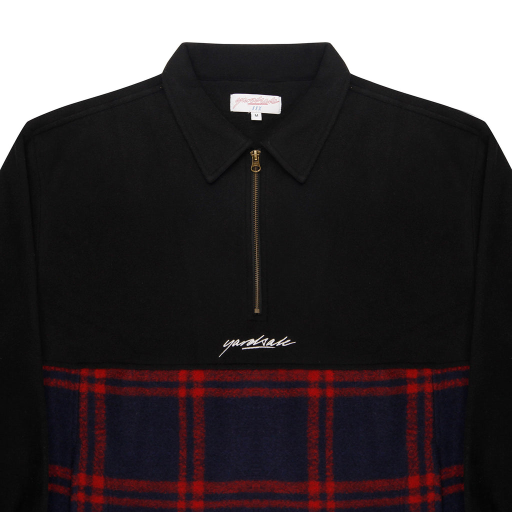 Yardsale Tartan Split Fleece Black - Neck