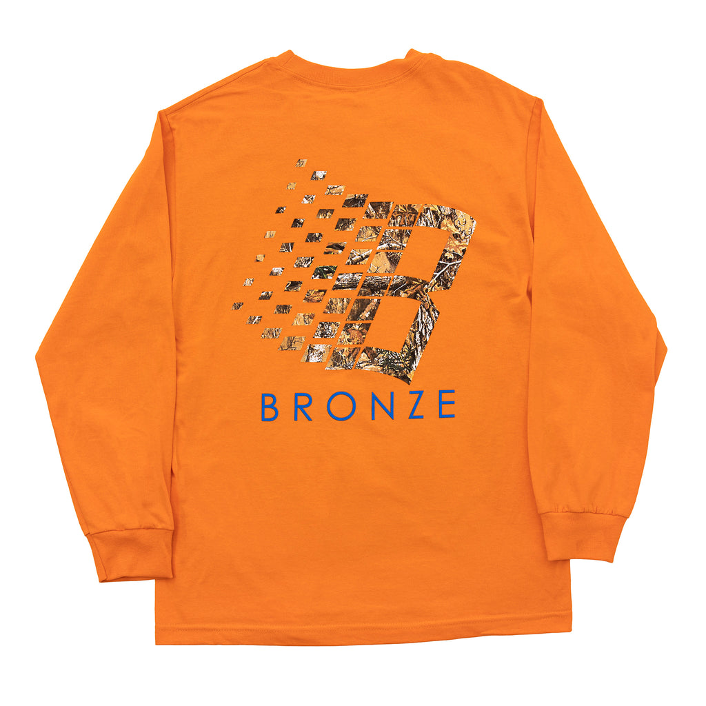 Bronze 56k L/S Tree B Logo T Shirt in Orange