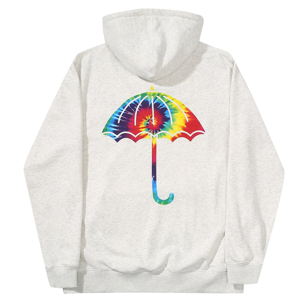 Helas Tie Dye Hoodie in Heather Grey