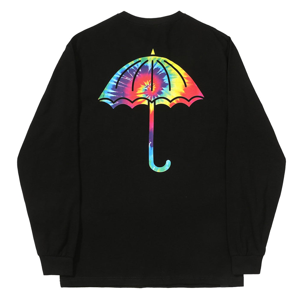 Helas L/S Tie Dye T Shirt in Black
