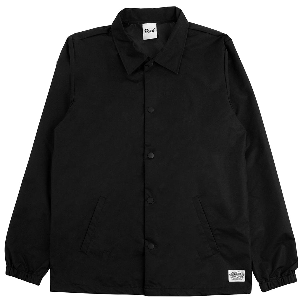 Bored of Southsea Daily Use Coaches Jacket in Black - Front