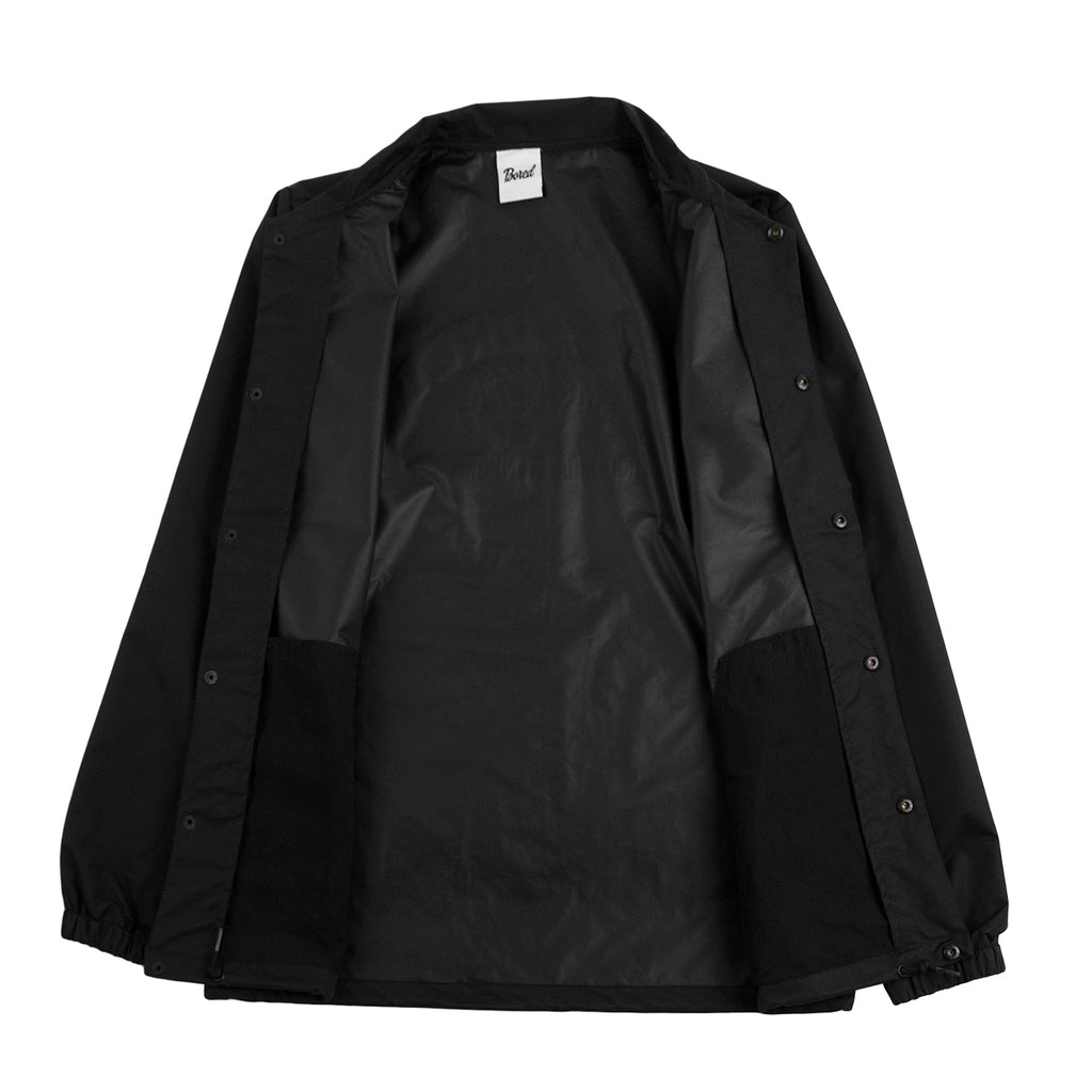 Bored of Southsea Daily Use Coaches Jacket in Black - Open