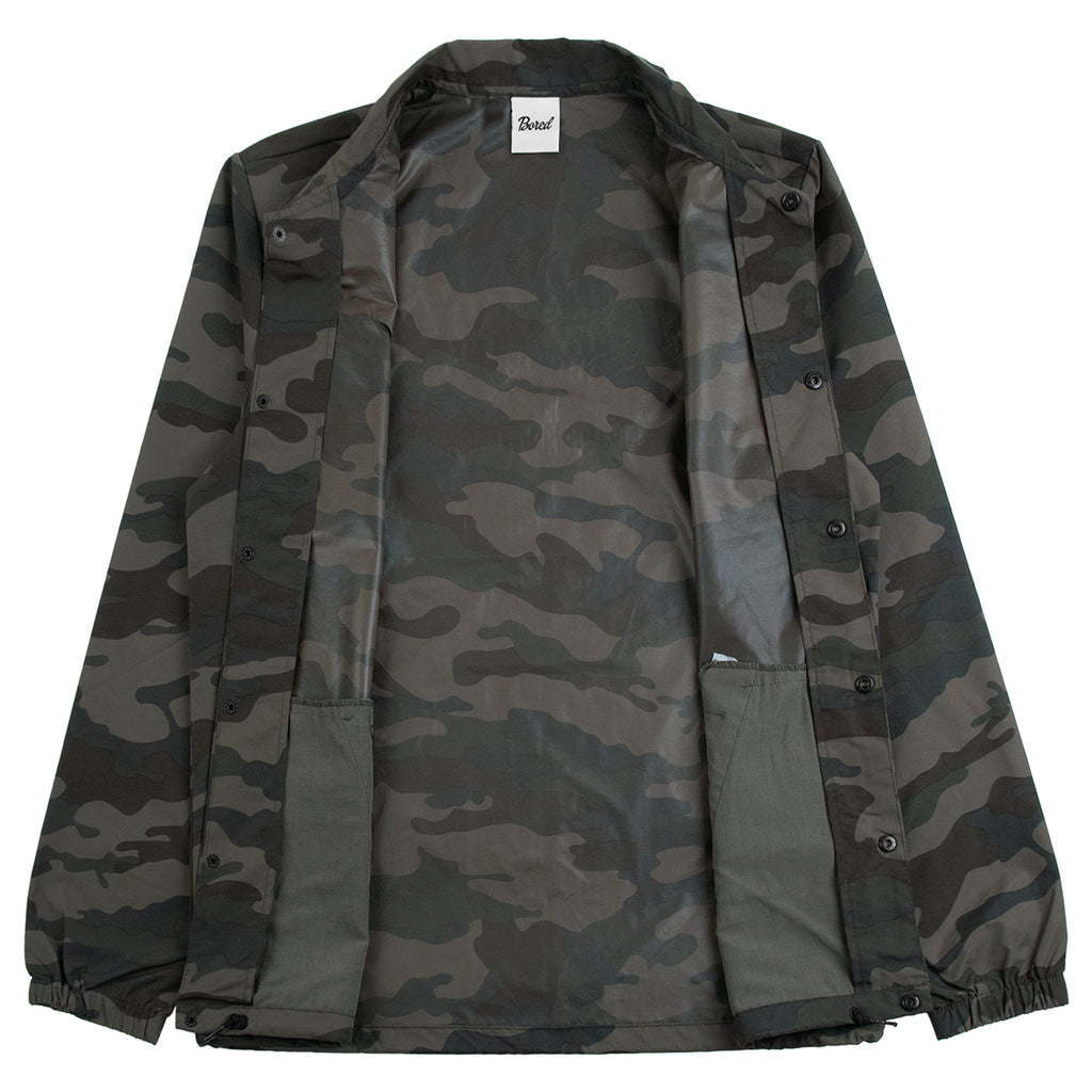 Bored of Southsea Daily Use Coaches Jacket in Camo - Open