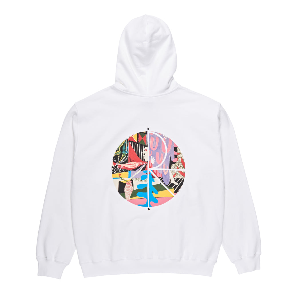 Polar Skate Co TK Fill Logo Hoodie in White