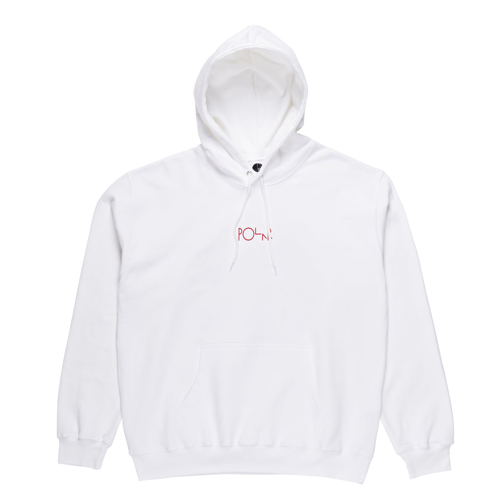 Polar Skate Co TK Fill Logo Hoodie in White - Front