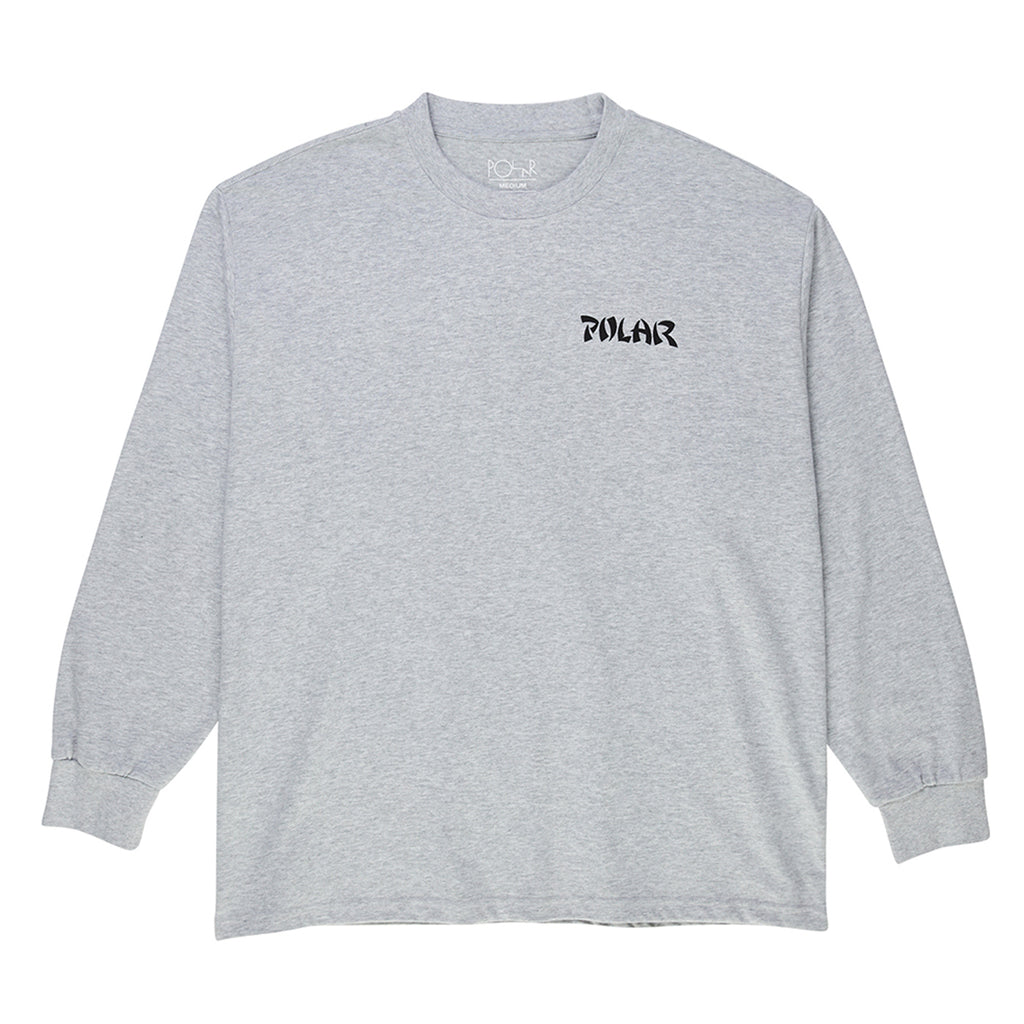 Polar Skate Co L/S Torso T Shirt in Sports Grey - Front