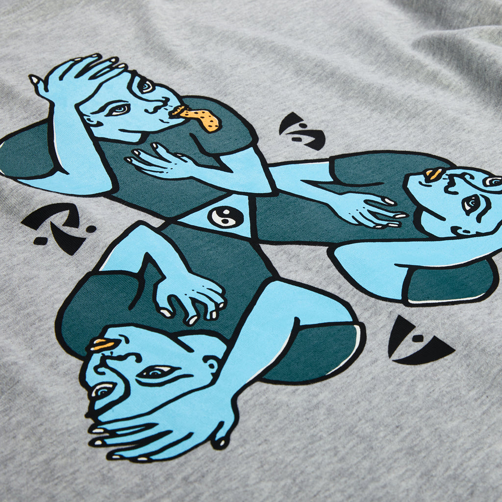 Polar Skate Co L/S Torso T Shirt in Sports Grey - Back Print