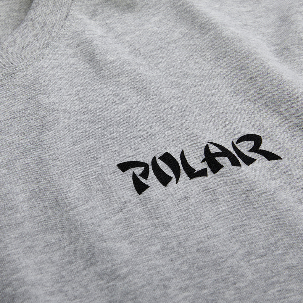 Polar Skate Co L/S Torso T Shirt in Sports Grey - Front Print