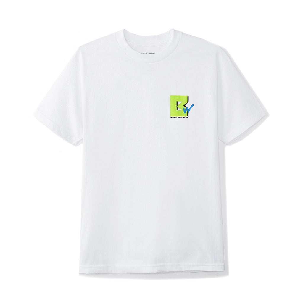 Butter Goods TV T Shirt in White - Front