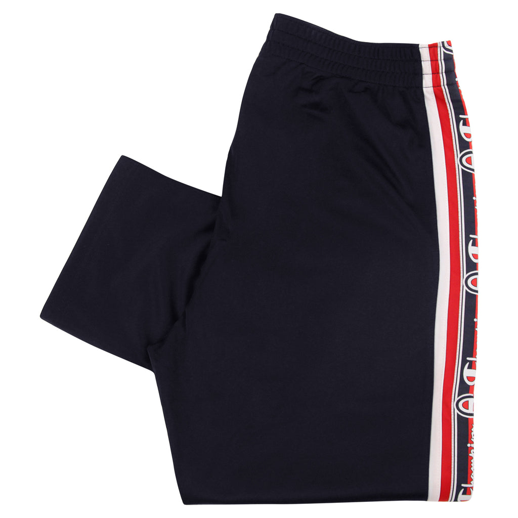 Champion Reverse Weave Taped Track Pants in Navy / White / Red