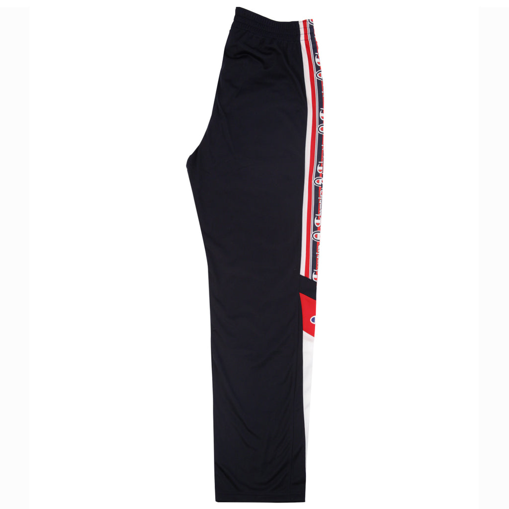 Champion Reverse Weave Taped Track Pants in Navy / White / Red - Profile