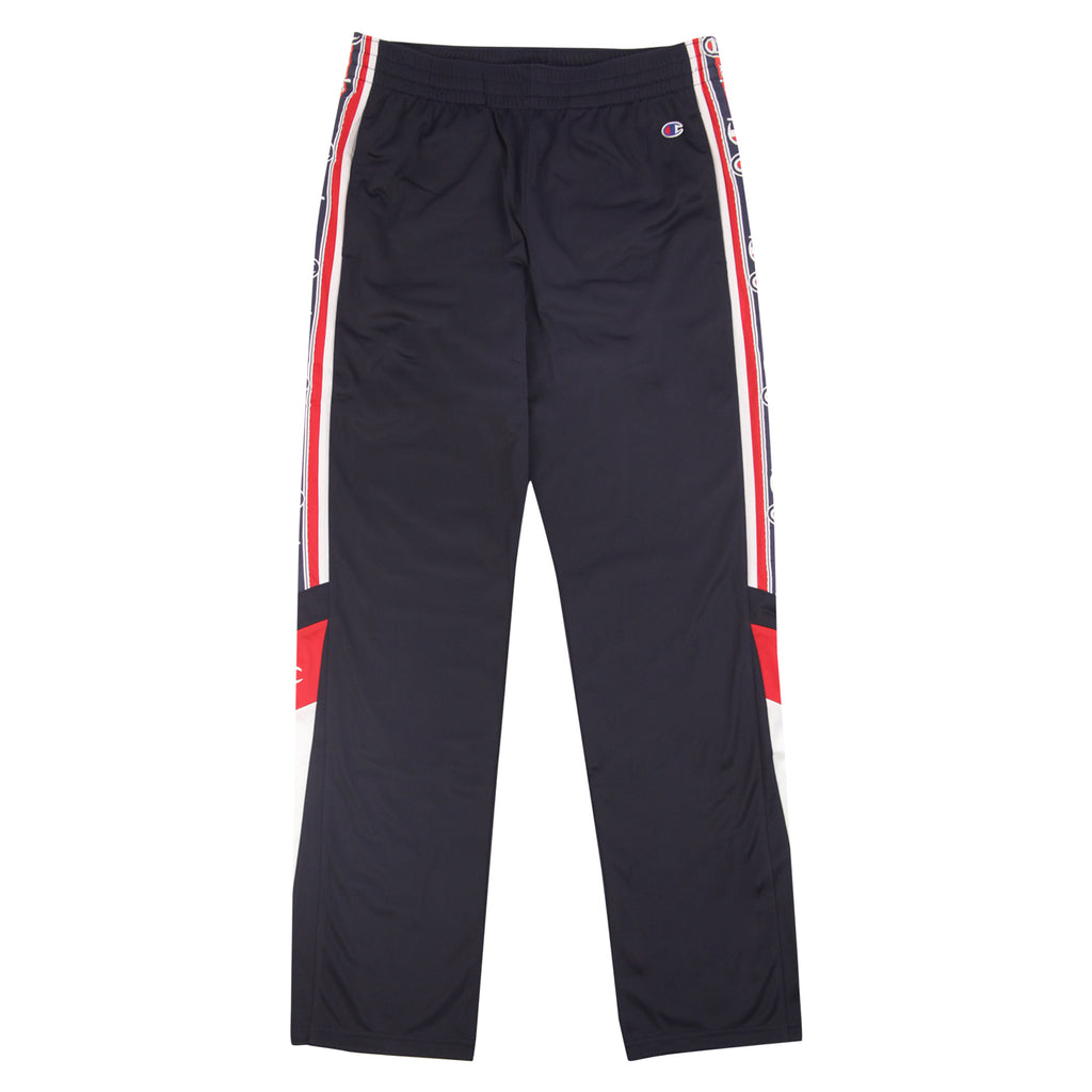 Champion Reverse Weave Taped Track Pants in Navy / White / Red - Front