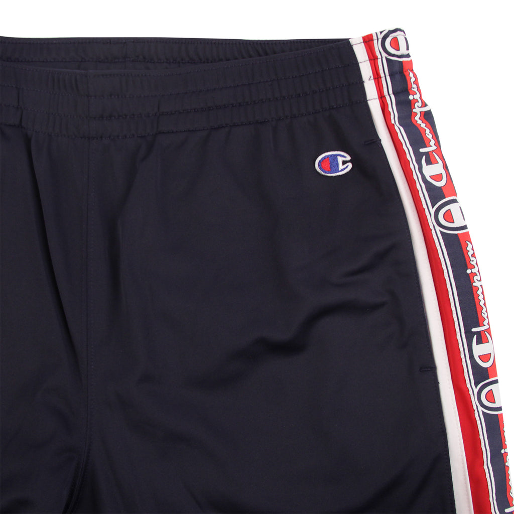 Champion Reverse Weave Taped Track Pants in Navy / White / Red - Pocket