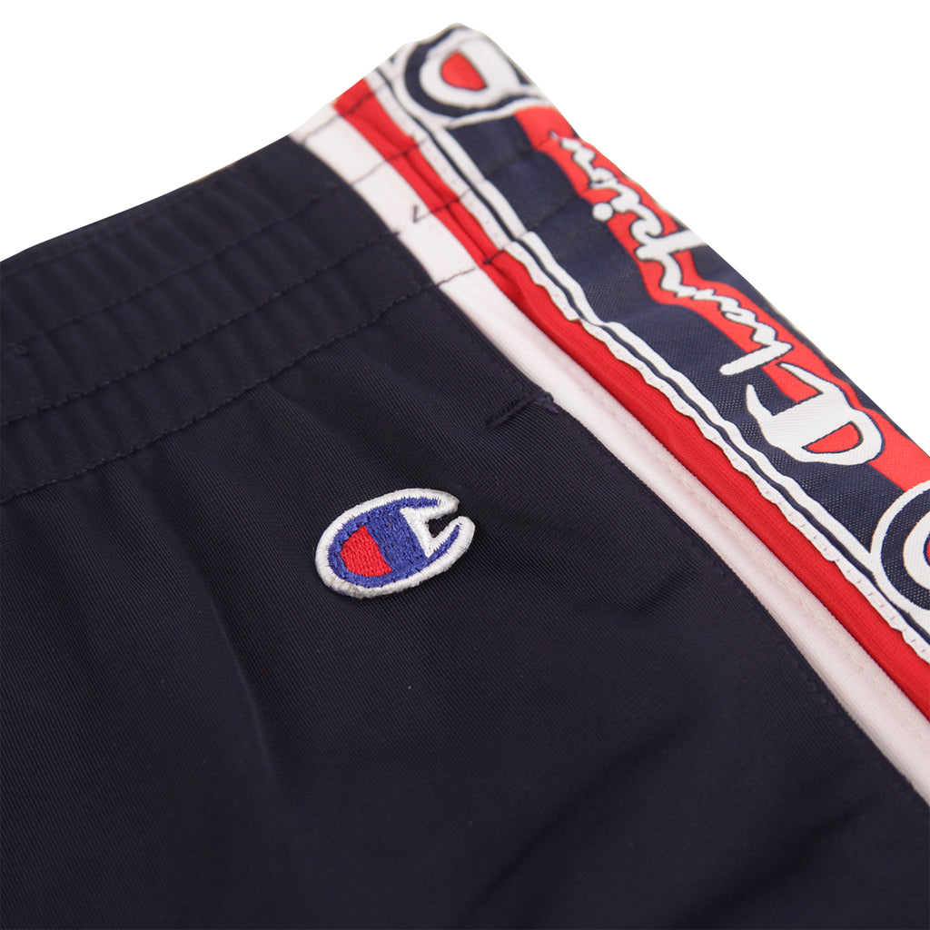 Champion Reverse Weave Taped Track Pants in Navy / White / Red - Patch