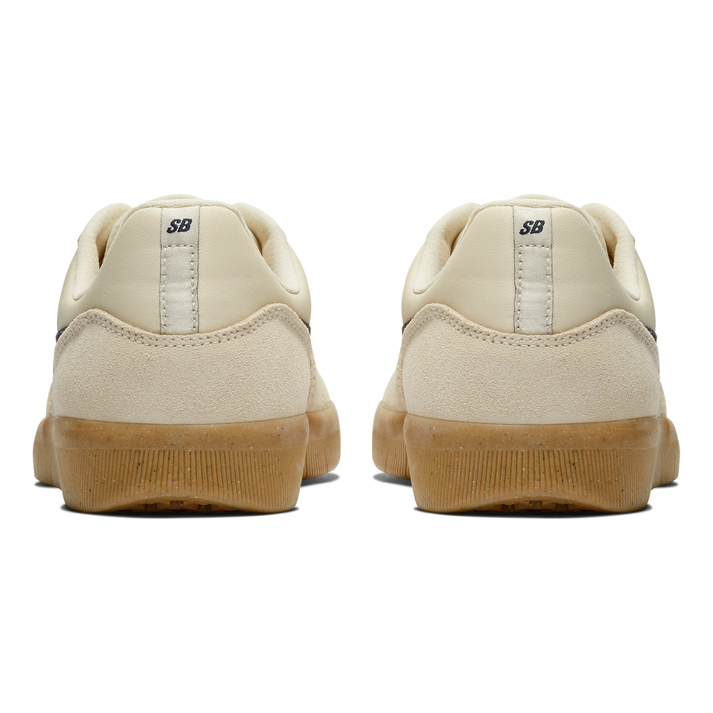 Nike SB Team Classic Shoes in Light Cream / Obsidian - Gum Yellow - Back