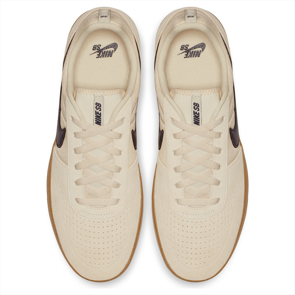 Nike SB Team Classic Shoes in Light Cream / Obsidian - Gum Yellow - Top