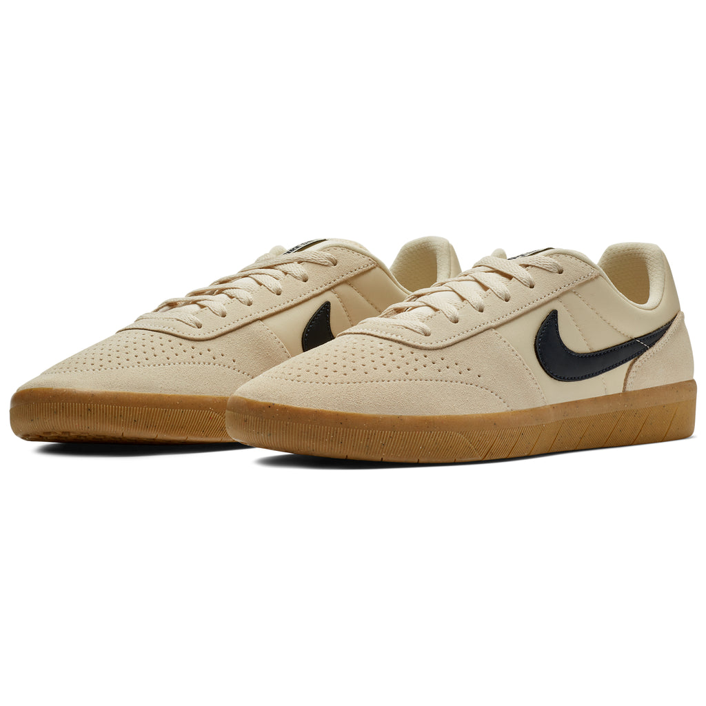 Nike SB Team Classic Shoes in Light Cream / Obsidian - Gum Yellow - Pair