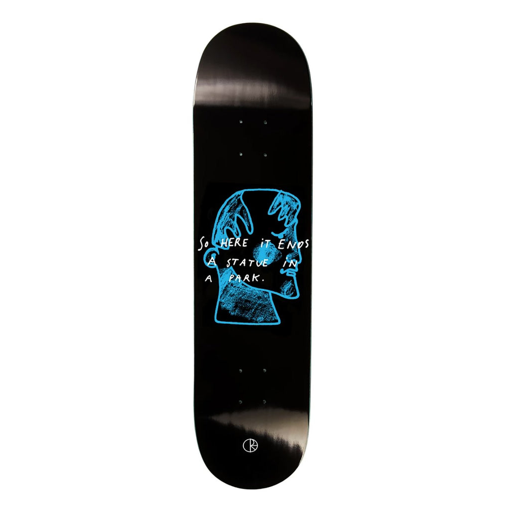 Polar Skate Co Team I Prefer Marble Black Skateboard Deck in 8""