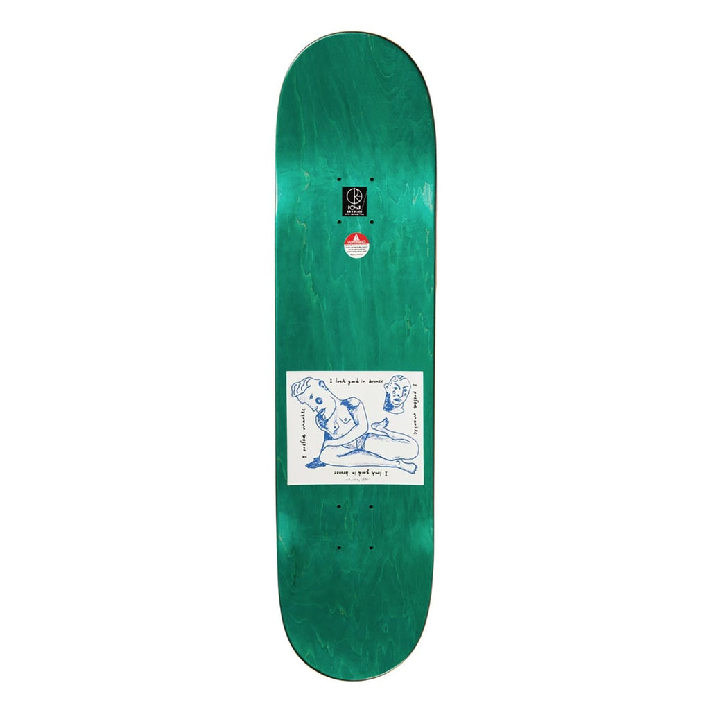 "Polar Skate Co Team I Prefer Marble Black Skateboard Deck in 8"" - Top"