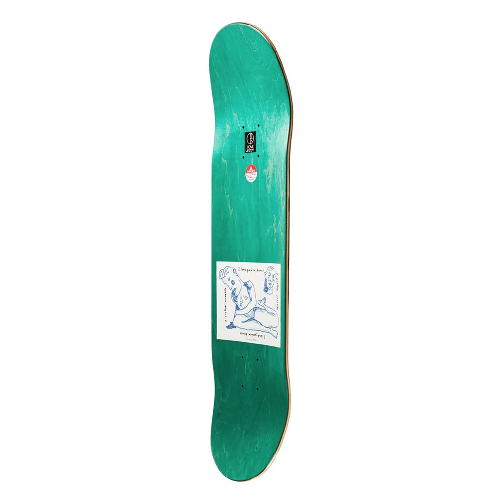 "Polar Skate Co Team I Prefer Marble Black Skateboard Deck in 8"" - Side"