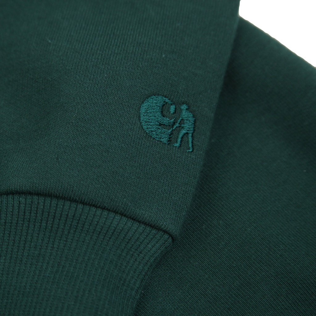 Carhartt WIP x Pass Port Thank You Sweatshirt in Bottle Green - Logo