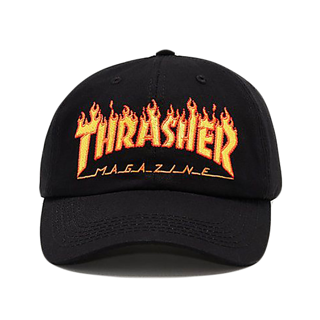 Thrasher Flame Old Timer Hat in Black - Front