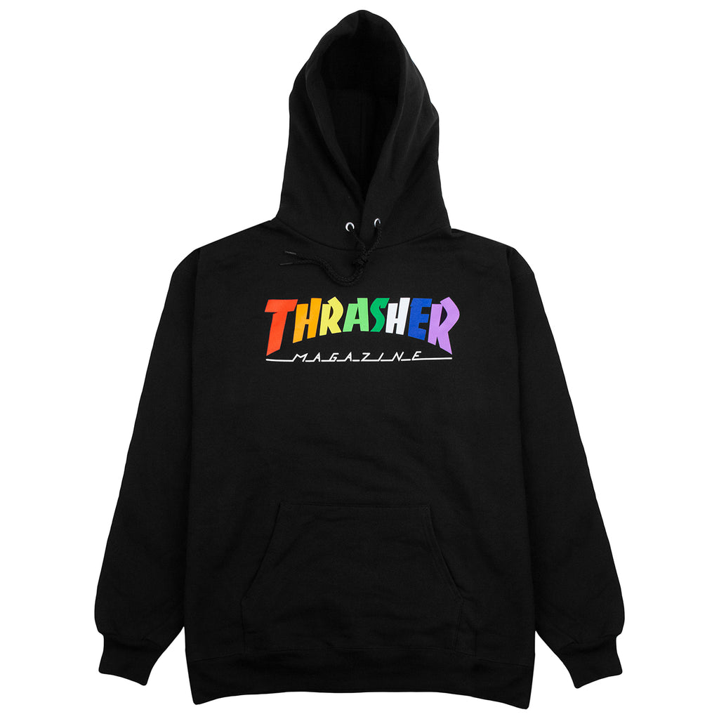 Thrasher Rainbow Mag Hoodie in Black