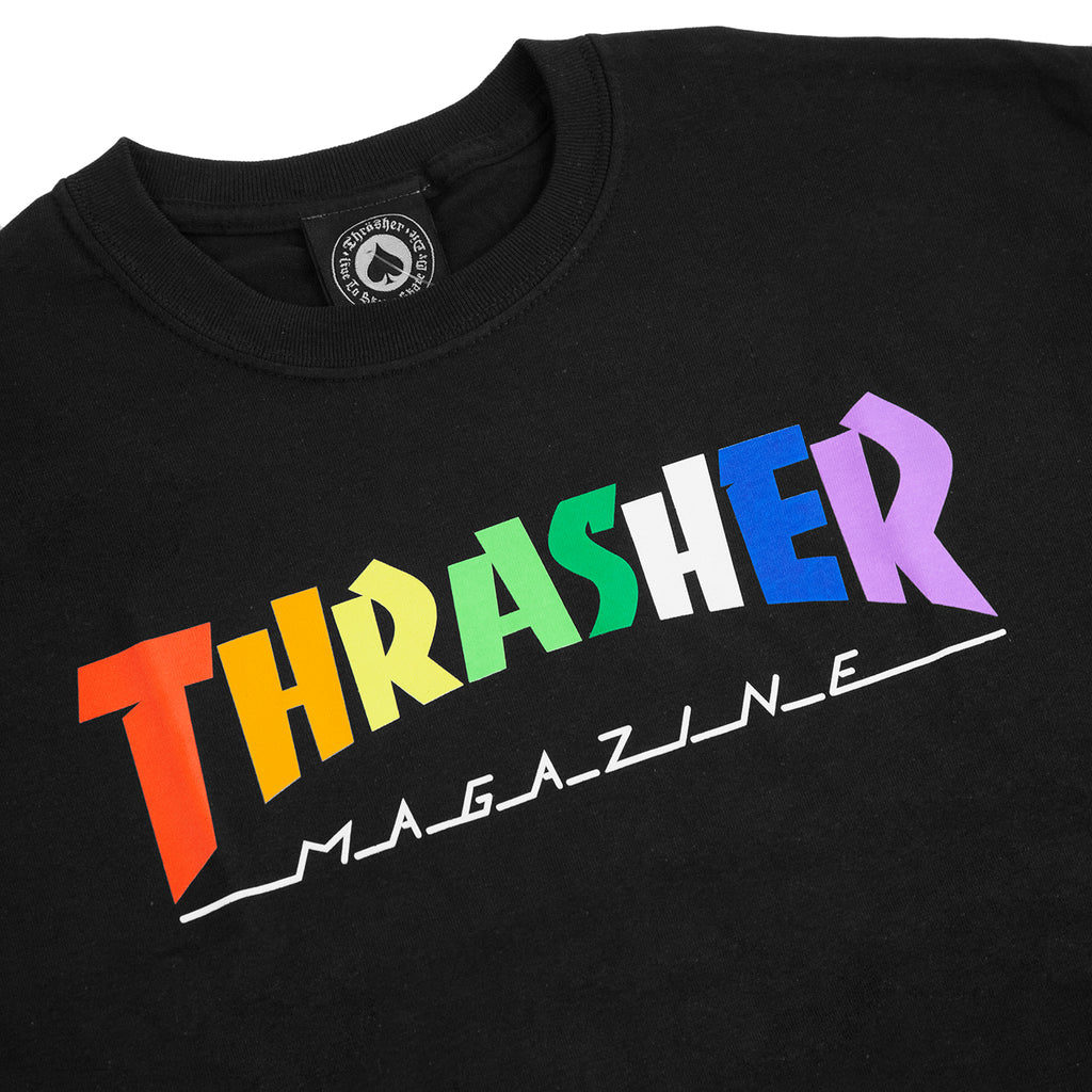 Thrasher Rainbow Mag T Shirt in Black - Detail