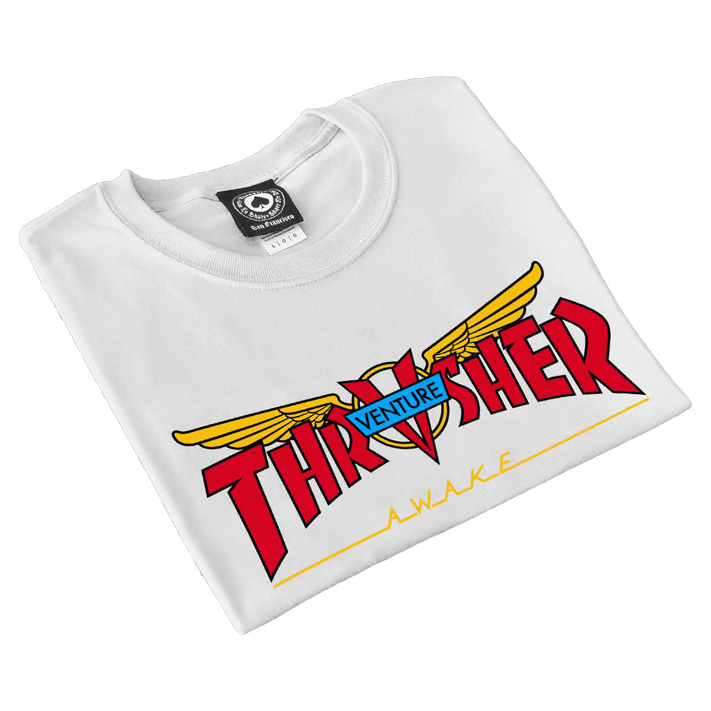 Thrasher Magazine x Venture Trucks T Shirt in White