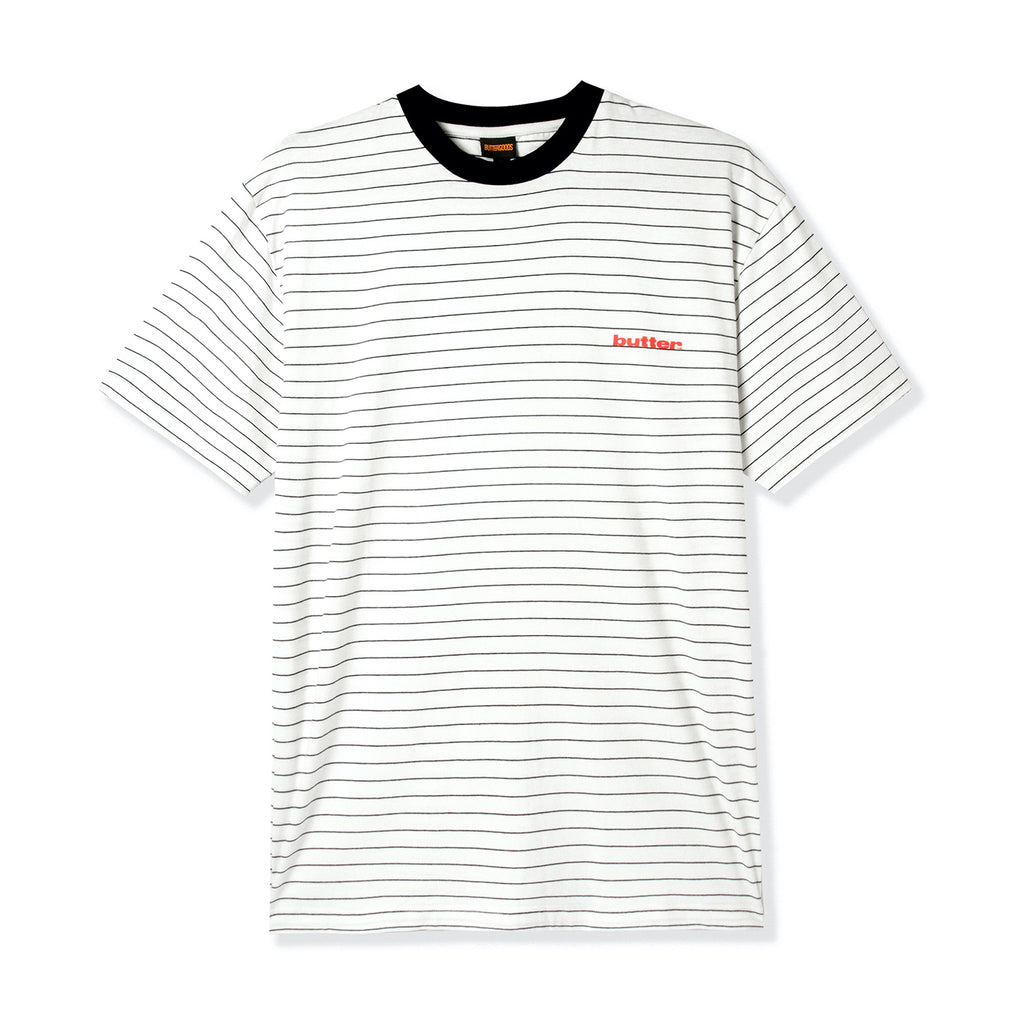 Butter Goods Tide Stripe T Shirt in White