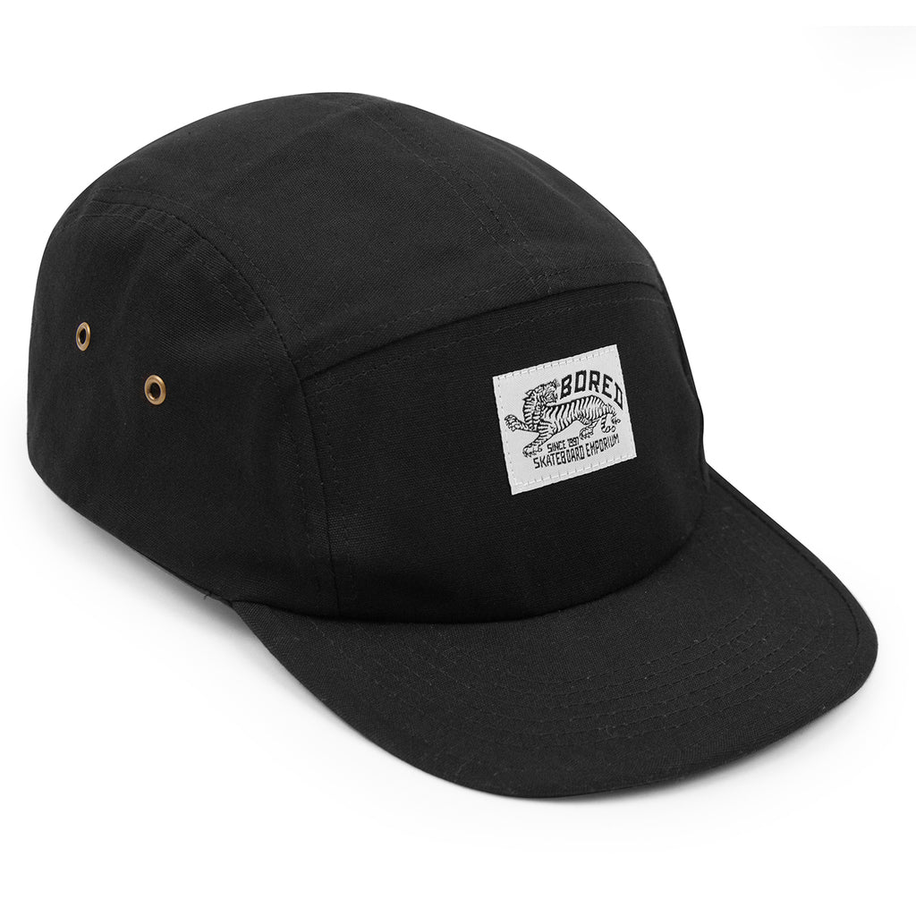 Bored of Southsea Daily Use 5 Panel Cap in Black