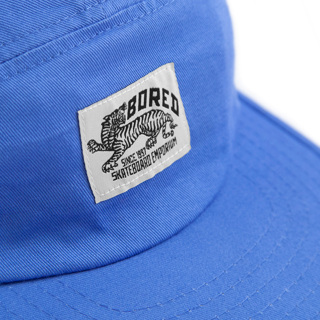 Bored of Southsea Daily Use 5 Panel Cap in Blue - Detail