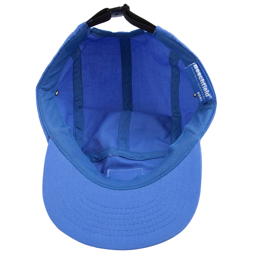 Bored of Southsea Daily Use 5 Panel Cap in Blue - Inside