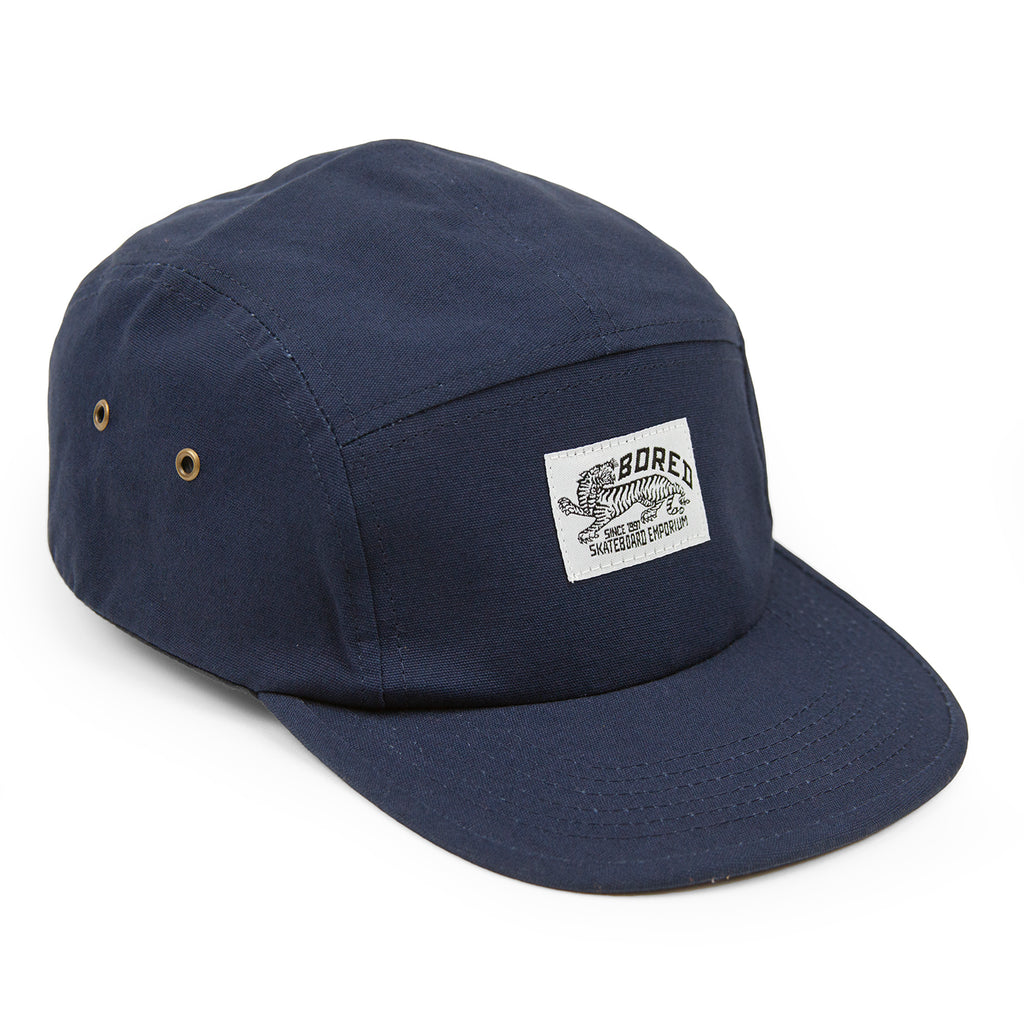 Bored of Southsea Daily Use 5 Panel Cap in Navy