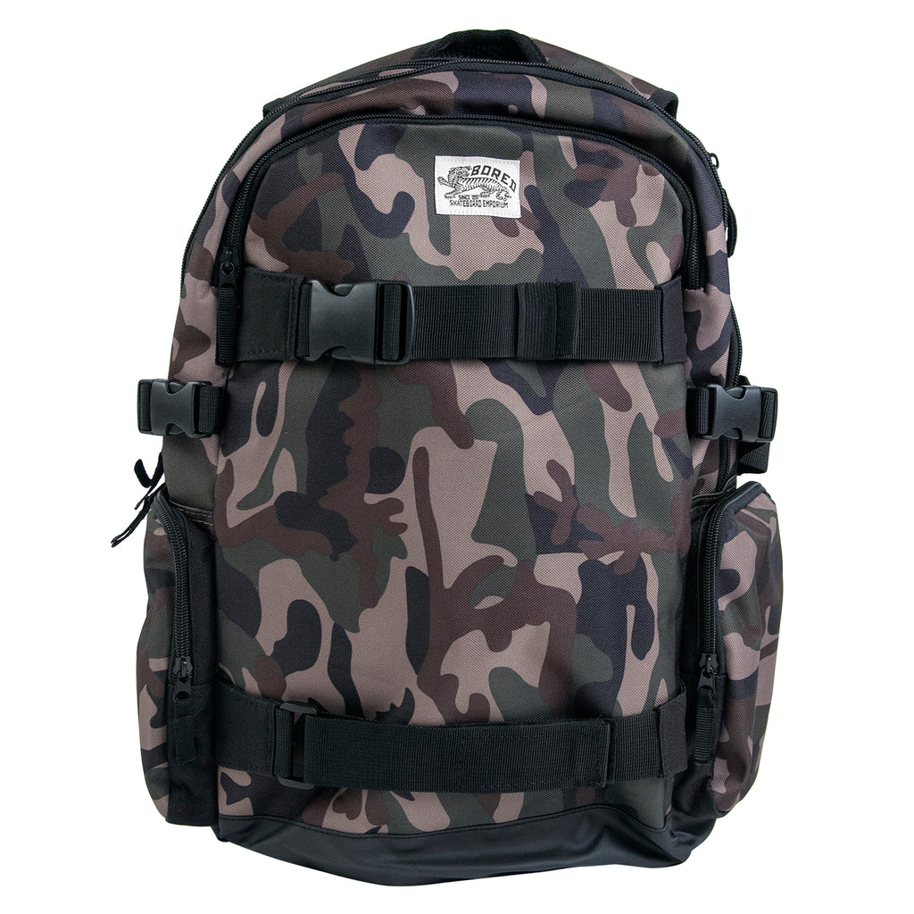 Bored of Southsea Daily Use Skate Backpack in Camo