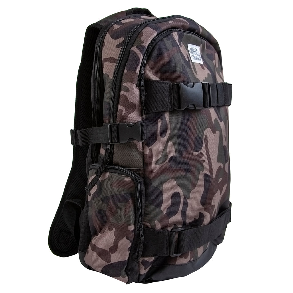 Bored of Southsea Daily Use Skate Backpack in Camo - Side
