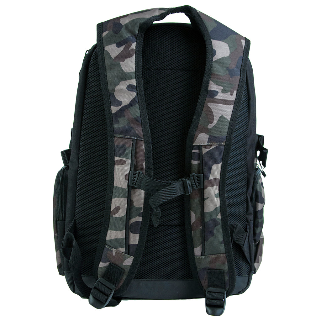 Bored of Southsea Daily Use Skate Backpack in Camo - Back