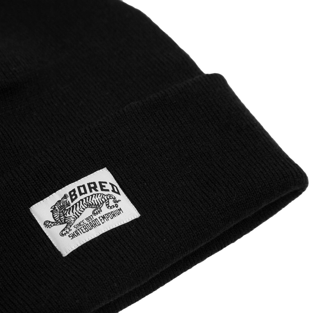 Bored of Southsea Daily Use Beanie in Black - Detail